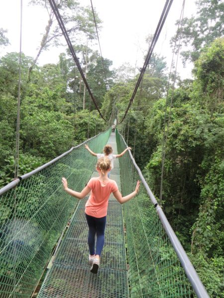 Lillian and Sylvia cross over to the La Selva Biological Station to tour the rainforest