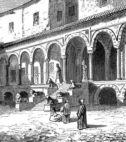 Illustration of Bardo Museum in Tunisia