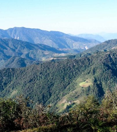 Black Mountains in Bhutan