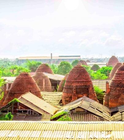 Brickyard village near Vinh Long, Vietnam