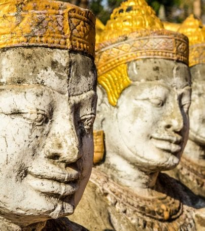 Statues in Kampong Cham, Cambodia