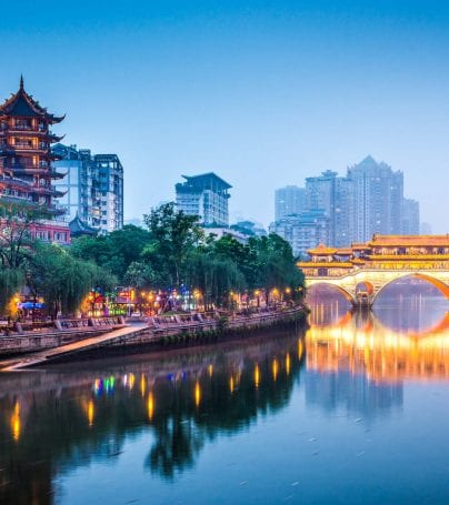 Jin River in Chengdu, China