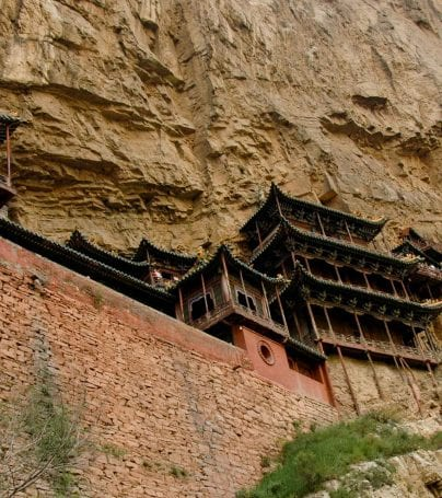 Datong cliffside buildings in China