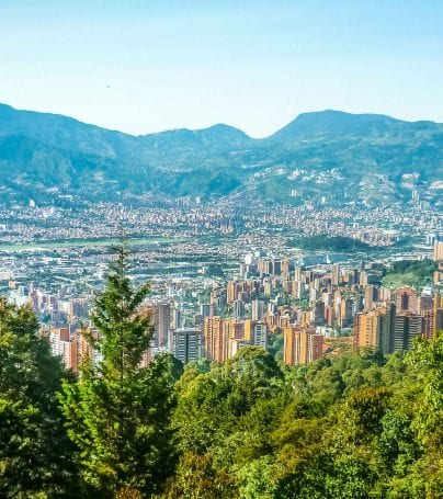 City of Medellin in Colombia's Aburra Valley