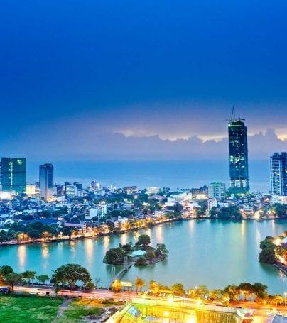 Skyline of Colombo, Sri Lanka