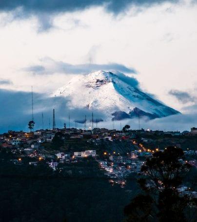 Cotopaxi volcano behind Quito, Ecuador