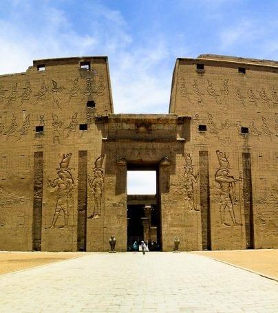 Wall of Edfu in Egypt