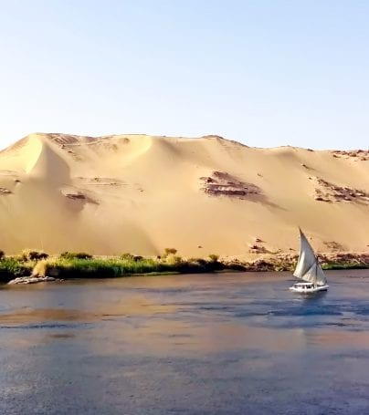 Boat on the Nile near Aswan, Egypt