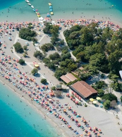 Aerial view of Fethiye, Turkey