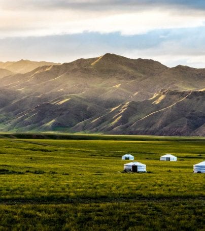 Ger on the plains of Mongolia