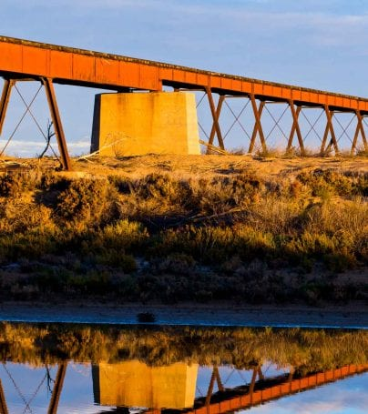 Railway overpass for The Ghan in Australia
