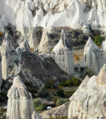 Rock formations in Göreme Valley, Turkey