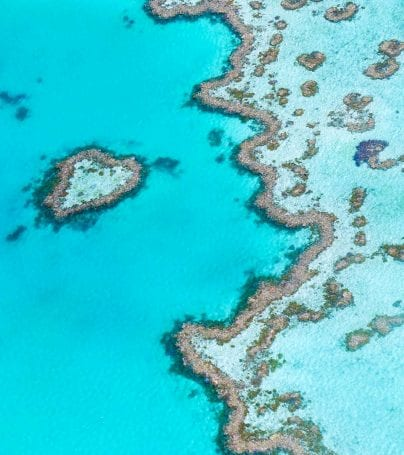Aerial view of Great Barrier Reef, Australia