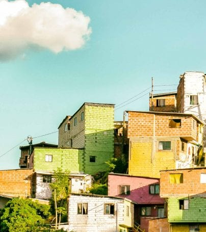 Houses of Medellin, Colombia