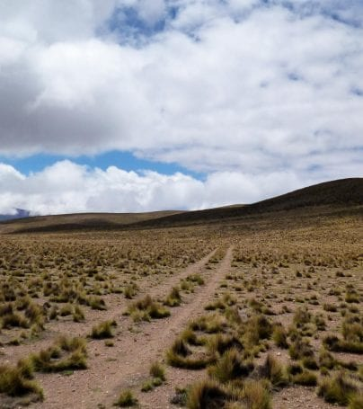 Plains and mountain in Humahuaca, Argentina