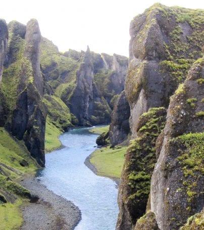 River in crevasse in Iceland
