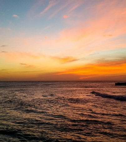 Sunrise over the ocean off the coast of India