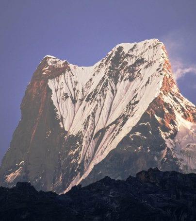 Mountain peak near Jomsom, Nepal