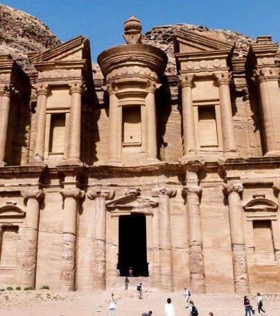 Cliffs of Petra in Jordan