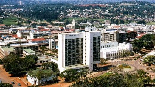 Aerial view of Kampala, Uganda
