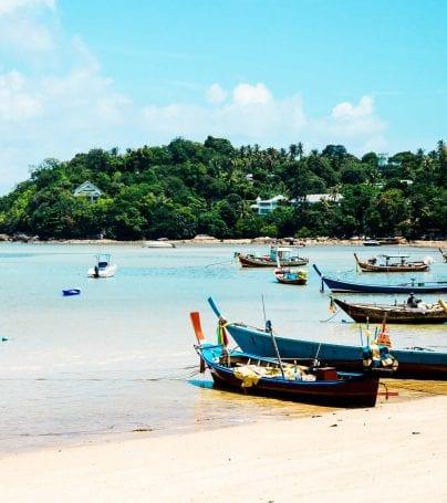 Boats on beach in Ko Samui, Thailand