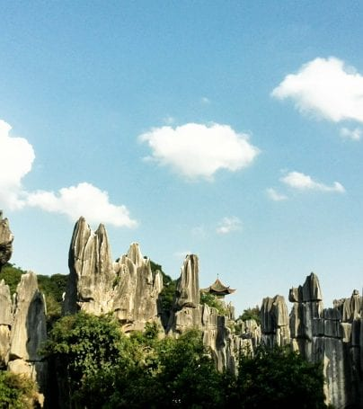 Stone forest near Kunming, China
