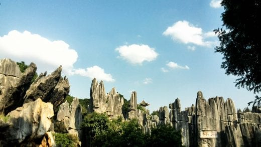 Stone forest near Kunming, China