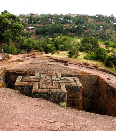 Lalibela rock in Ethiopia