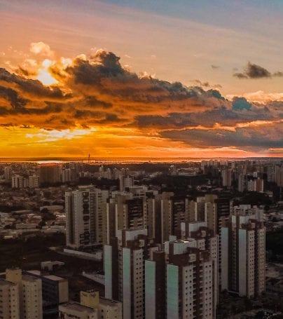 Sunset over Manaus, Brazil
