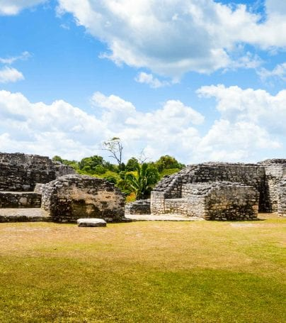 Ancient Mayan ruins in western Belize