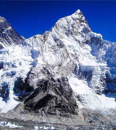 View of Mount Everest near Kunde, Nepal