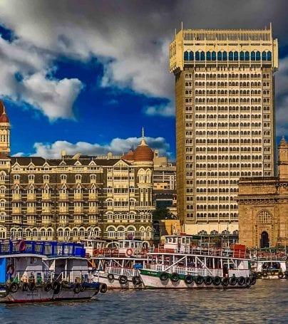Coast skyline of Mumbai, India