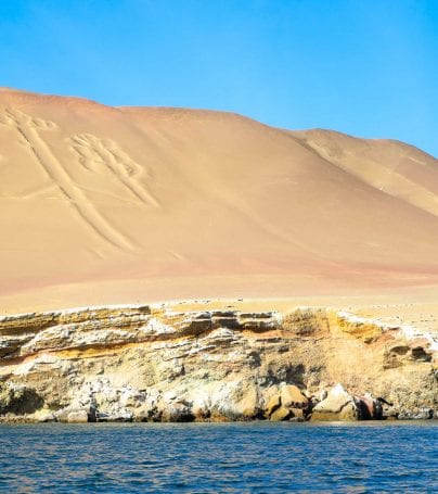 Nazca Lines in the desert of Peru