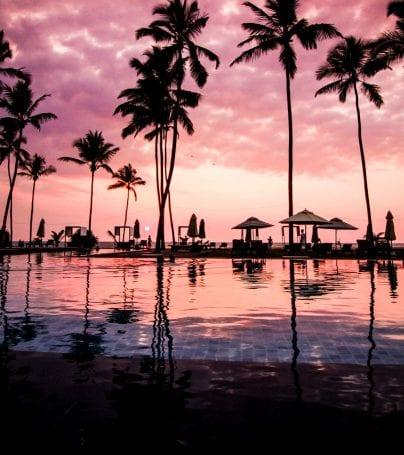 Beach at sunset in Negombo, Sri Lanka