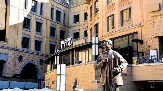 Nelson Mandela statue in Johannesburg, South Africa