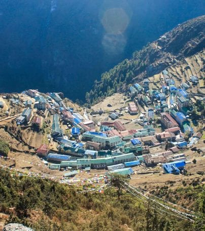 Nepal shore town