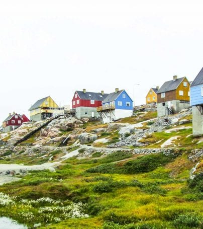 Houses by the shore in Ny-Ålesund