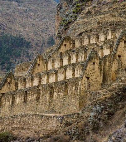 Cliffs of Ollantaytambo, Peru