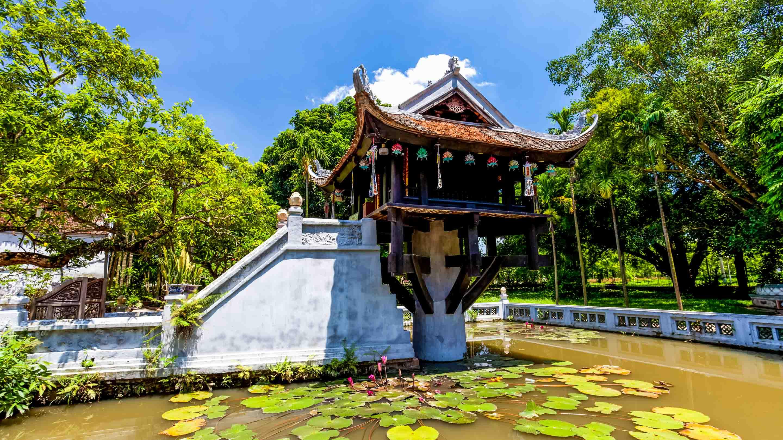 ผลการค้นหารูปภาพสำหรับ One Pillar Pagoda hanoi