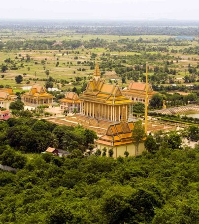 Aerial view of Oudong, Cambodia