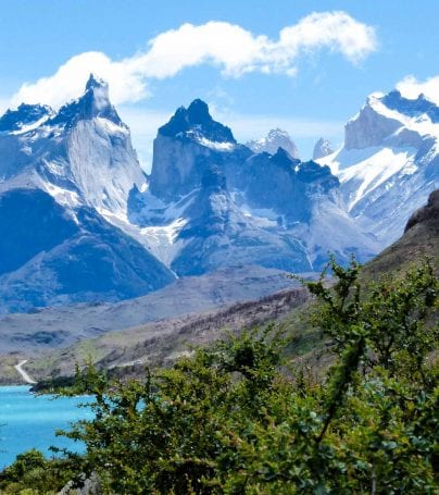 Patagonia mountain range in Chile