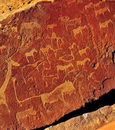 Rock carvings at Twyfelfontein, Namibia