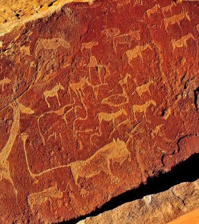 Rock carvings at Twyfelfontein, Namibia