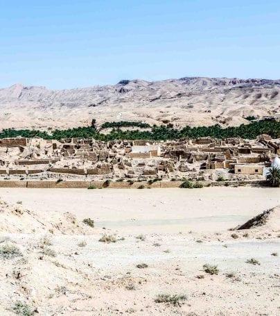 Ancient ruins near Tamerza, Tunisia