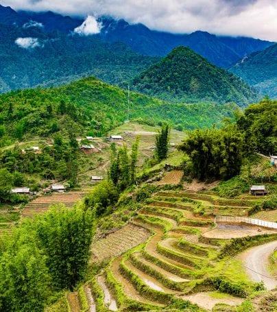 View across the hills of Sapa, Vietnam