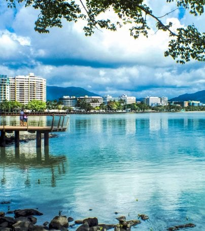 Shoreline of Cairns, Australia