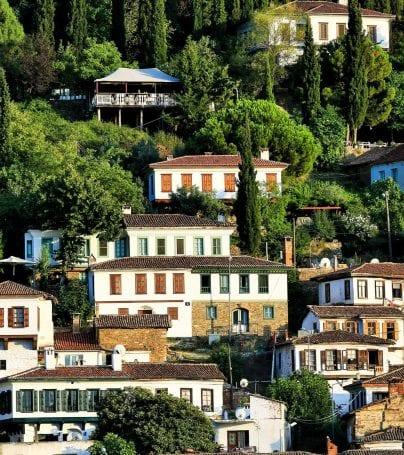 Hillside houses of Sirince, Turkey