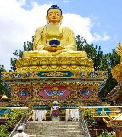 Statues at Swayambhunath, Nepal