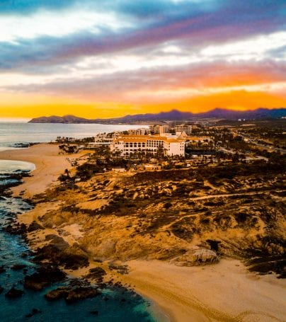 Sunset over San Jose del Cabo beach