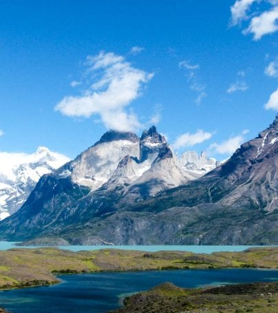 Mountains in Torres del Paine National Park, Chile